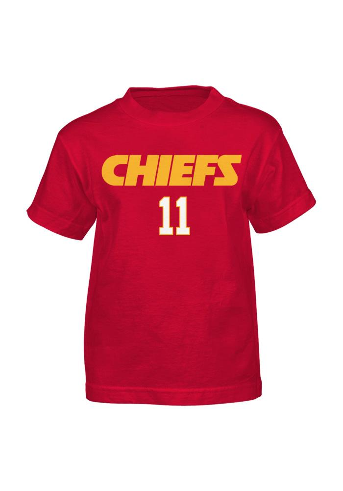 Alex Smith Kansas City Chiefs Youth Red Player Player Tee - Image 2