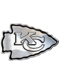 Kansas City Chiefs Chome Car Emblem - Silver