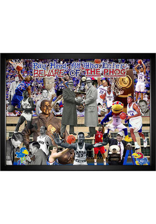Kansas Jayhawks Pay Heed 3-D Picture with Guide Wall Art