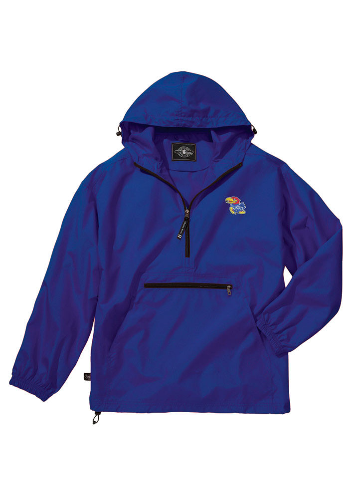 Kansas Jayhawks Mens Blue Pack N Go Light Weight Jacket - Image 1