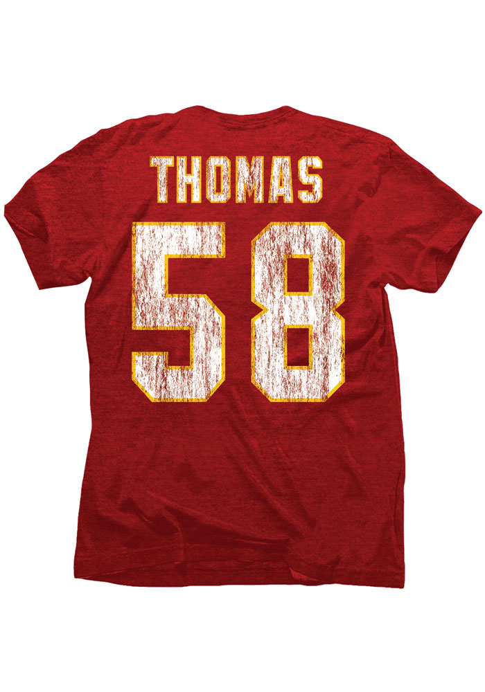 Derrick Thomas Kansas City Chiefs Red Hall of Fame Short Sleeve Fashion Player T Shirt - Image 1