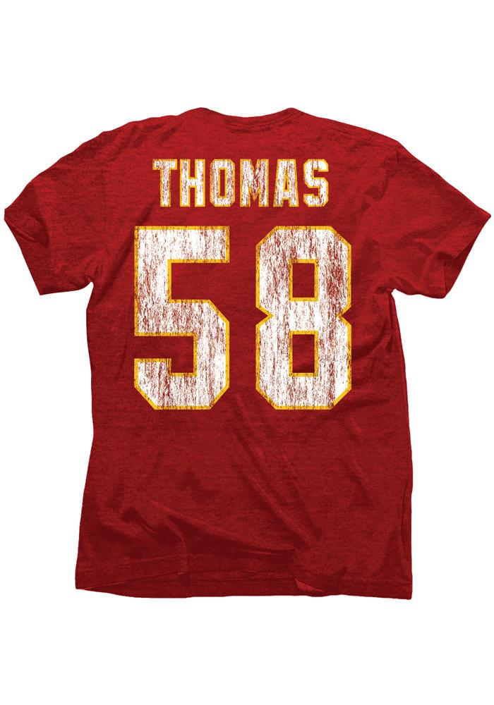 Derrick Thomas Kansas City Chiefs Red Hall of Fame Short Sleeve Fashion Player T Shirt - Image 2