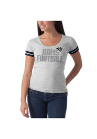 Los Angeles Rams Womens 47 Stars Showtime Scoop T-Shirt - Grey