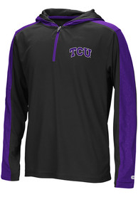finest selection ef111 218c8 Colosseum TCU Horned Frogs Youth Helisking Purple Quarter Zip Shirt