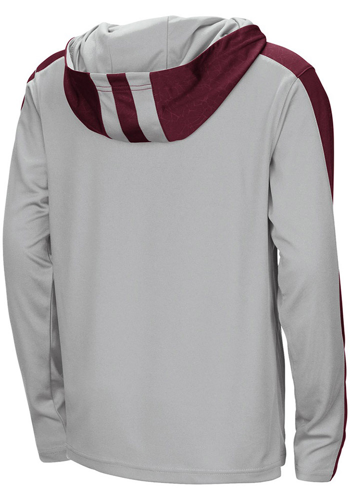 Colosseum Texas A&M Aggies Youth Grey Helisking Long Sleeve Quarter Zip Shirt - Image 2