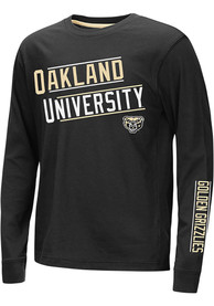 Oakland University Golden Grizzlies Youth Colosseum Groomed T-Shirt - Black
