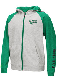 North Texas Mean Green Youth Colosseum Parabolic Full Zip Jacket - Grey