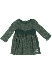 Colosseum Michigan State Spartans Baby Girls Green Crail Short Sleeve Dress