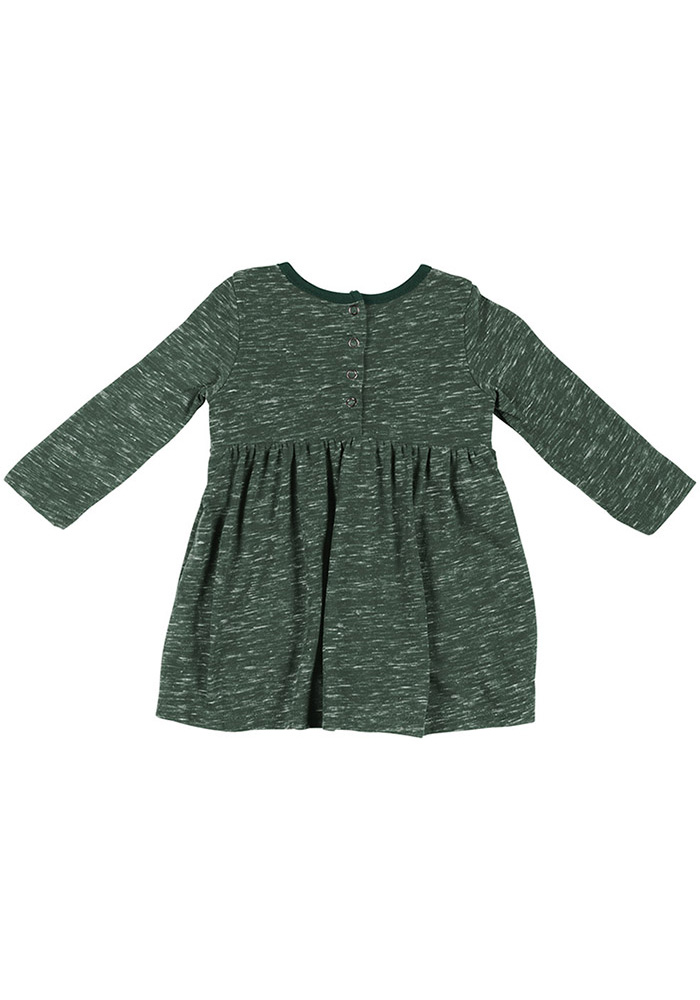 Colosseum Michigan State Spartans Baby Girls Green Crail Short Sleeve Dress - Image 2