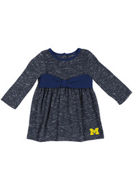 Michigan Wolverines Baby Girls Colosseum Crail Dress - Navy Blue