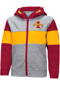 Iowa State Cyclones Toddler Colosseum Snowplough Full Zip Sweatshirt - Grey