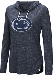 cf919fe46bd5 Colosseum Penn State Nittany Lions Womens Navy Blue Swizzle Side Slit Hoodie