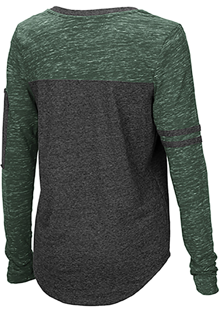 Colosseum Michigan State Spartans Womens Black Stance V Neck LS Tee - Image 2