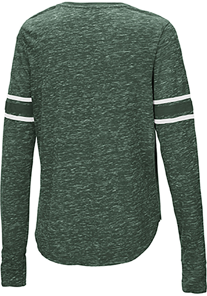 Colosseum Michigan State Spartans Womens Green Stag Leap Henley LS Tee - Image 2