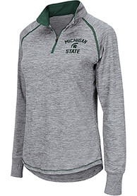 Michigan State Spartans Womens Colosseum Athena 1/4 Zip - Grey