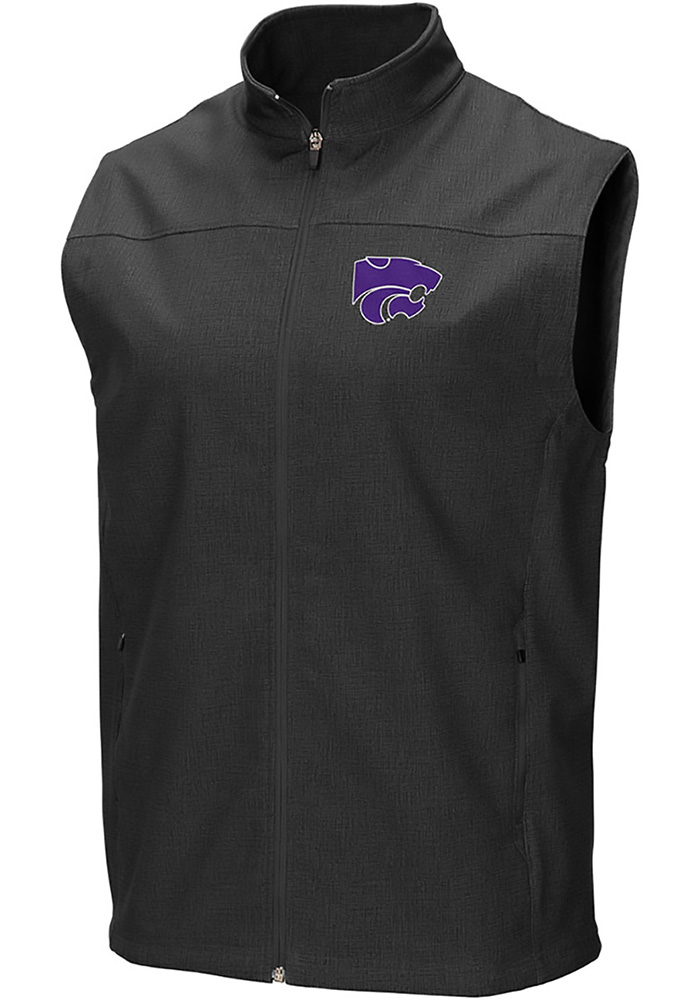 Colosseum K-State Wildcats Mens Grey Bobsled Vest Sleeveless Jacket - Image 1
