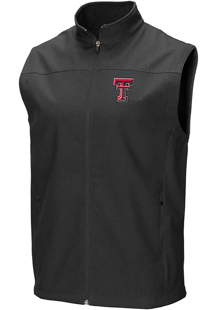 Colosseum Texas Tech Red Raiders Mens Grey Bobsled Vest Sleeveless Jacket - Image 1