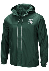 Michigan State Spartans Colosseum Giant Slalom Light Weight Jacket - Green