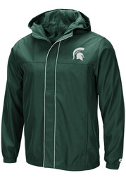 Colosseum Michigan State Spartans Mens Green Giant Slalom Light Weight Jacket