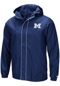 Michigan Wolverines Colosseum Giant Slalom Light Weight Jacket - Navy Blue