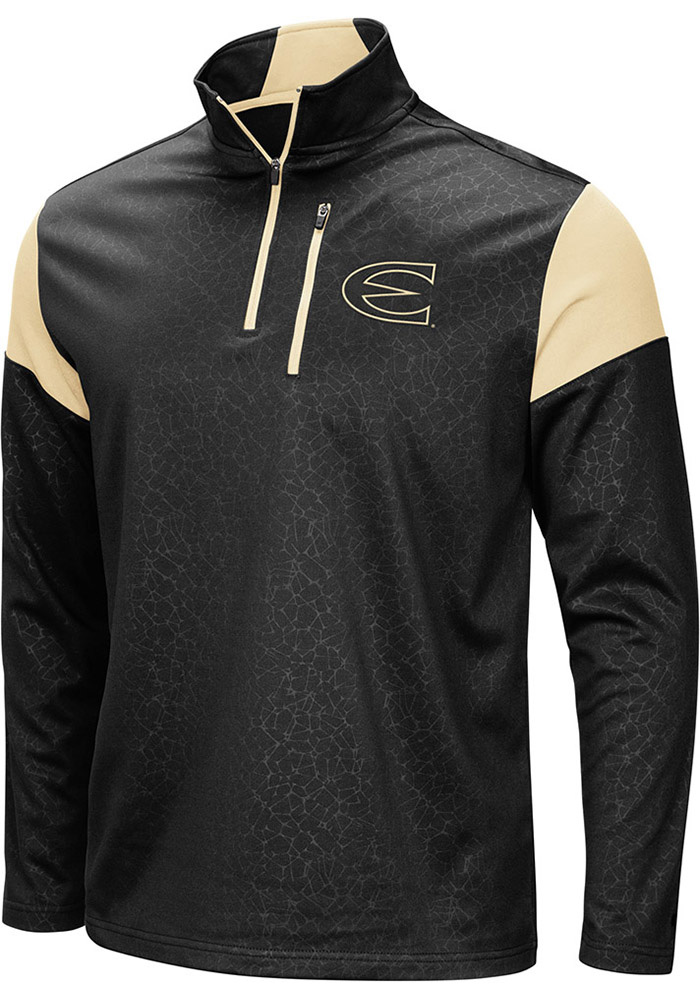 Colosseum Emporia State Hornets Mens Black Luge Long Sleeve 1/4 Zip Pullover - Image 1