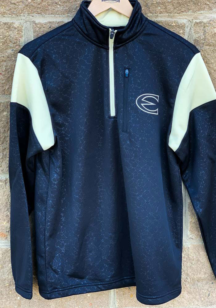 Colosseum Emporia State Hornets Mens Black Luge Long Sleeve 1/4 Zip Pullover - Image 3