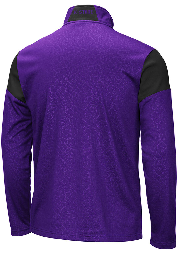 Colosseum K-State Wildcats Mens Black Luge Long Sleeve 1/4 Zip Pullover - Image 2