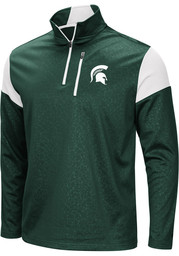 Michigan State Spartans Colosseum Luge 1/4 Zip Pullover - Green