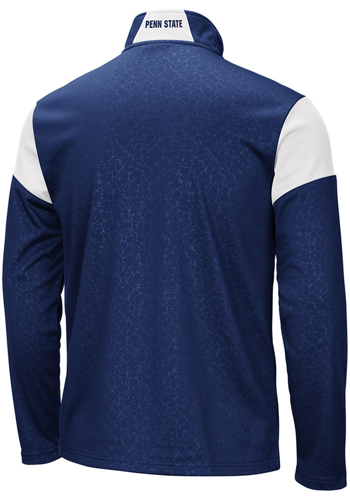 Colosseum Penn State Nittany Lions Mens Navy Blue Luge Long Sleeve 1/4 Zip Pullover - Image 2