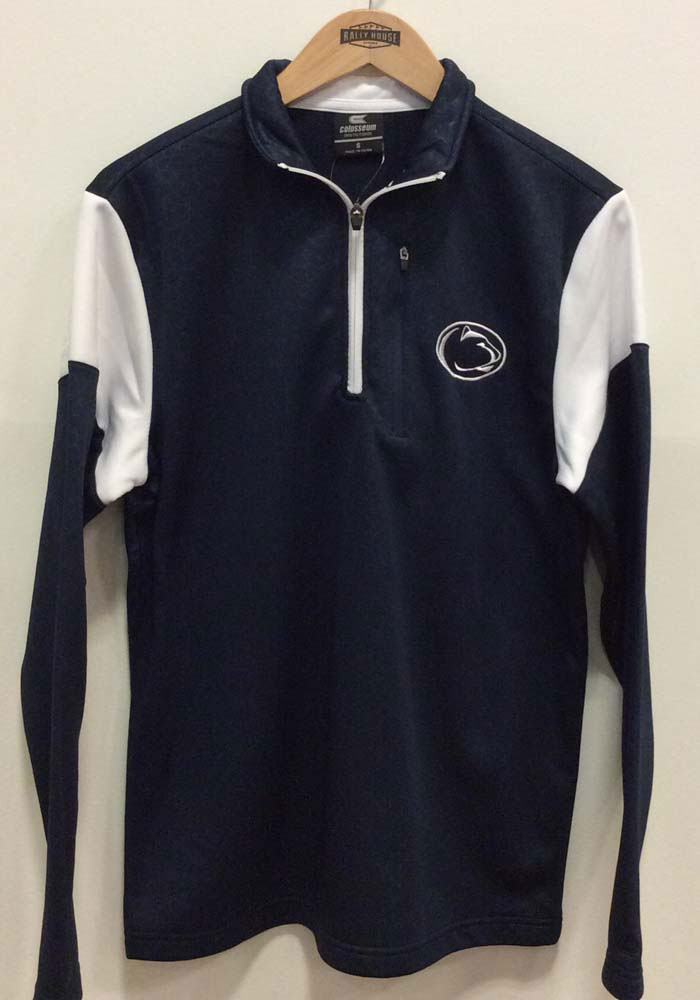 Colosseum Penn State Nittany Lions Mens Navy Blue Luge Long Sleeve 1/4 Zip Pullover - Image 3