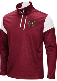 Temple Owls Colosseum Luge 1/4 Zip Pullover - Red