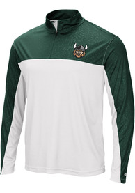 Cleveland State Vikings Colosseum Luge 1/4 Zip Pullover - Green