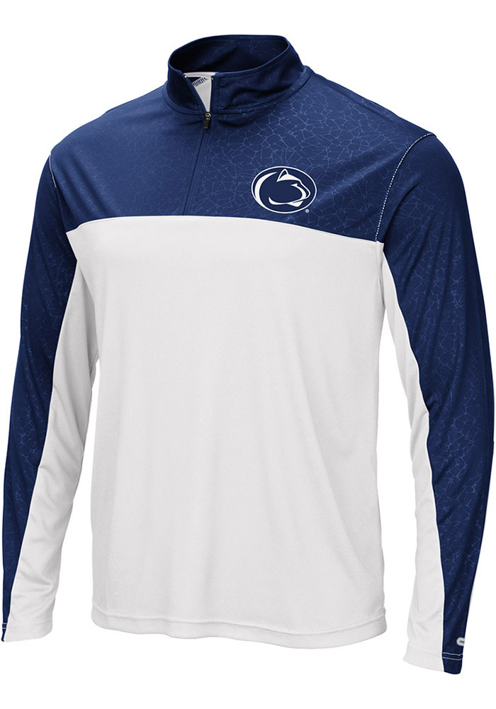 Colosseum Penn State Nittany Lions Mens Navy Blue Luge 1/4 Zip Windshirt Light Weight Jacket - Image 1