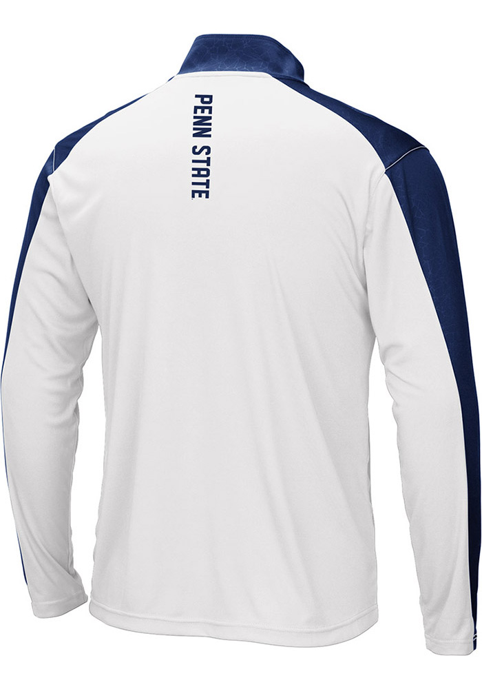 Colosseum Penn State Nittany Lions Mens Navy Blue Luge 1/4 Zip Windshirt Light Weight Jacket - Image 2