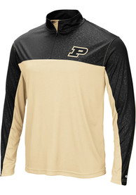 Purdue Boilermakers Colosseum Luge 1/4 Zip Pullover - Black