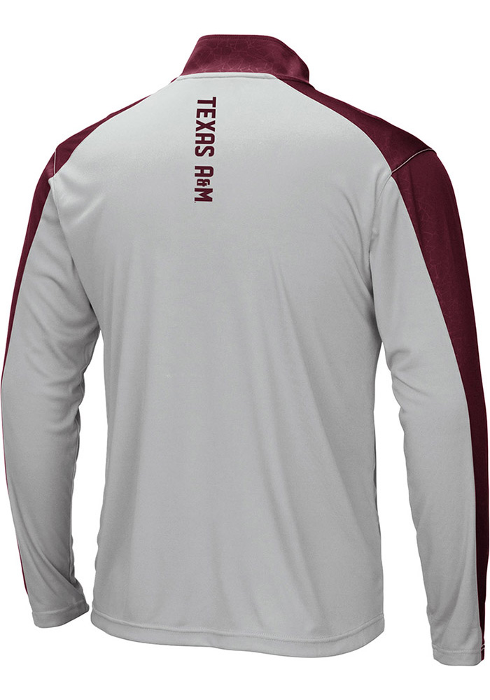 Colosseum Texas A&M Aggies Mens Luge Long Sleeve 1/4 Zip Pullover - Image 2
