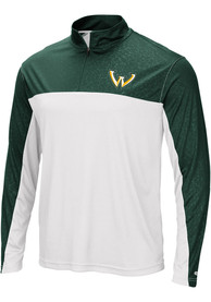 Wayne State Warriors Colosseum Luge 1/4 Zip Pullover - Green