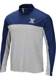 Xavier Musketeers Colosseum Luge 1/4 Zip Pullover - Navy Blue
