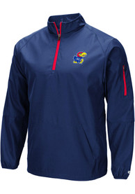 Kansas Jayhawks Colosseum Tips Pullover Jackets - Navy Blue