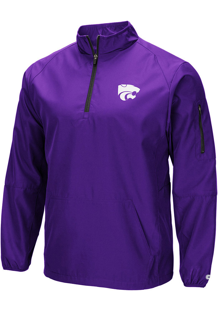 Colosseum K-State Wildcats Mens Black Tips Pullover Jackets - Image 1