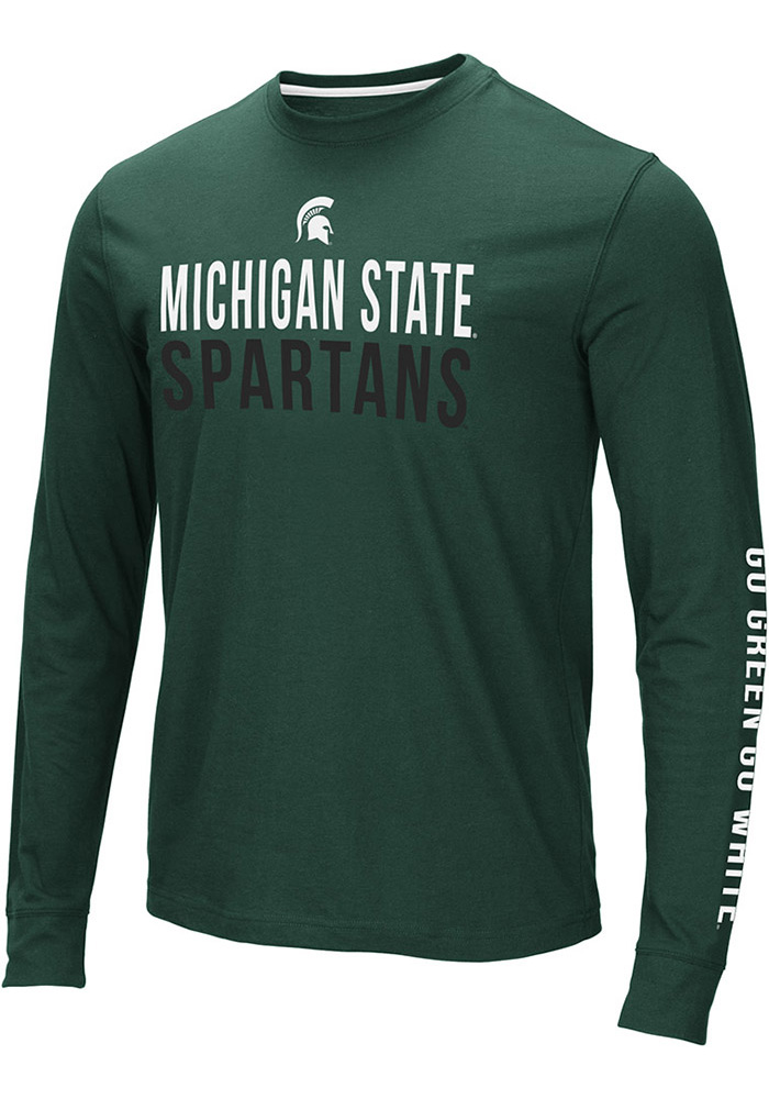 Colosseum Michigan State Spartans Green Lutz Long Sleeve T Shirt - Image 1