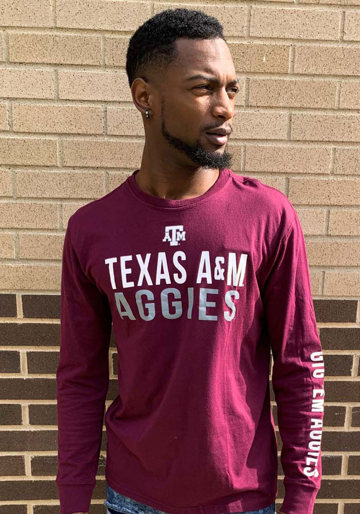 Colosseum Texas A&M Aggies Maroon Lutz Long Sleeve T Shirt - Image 2