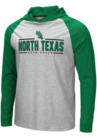 North Texas Mean Green Colosseum Slopestyle Hooded Sweatshirt - Grey