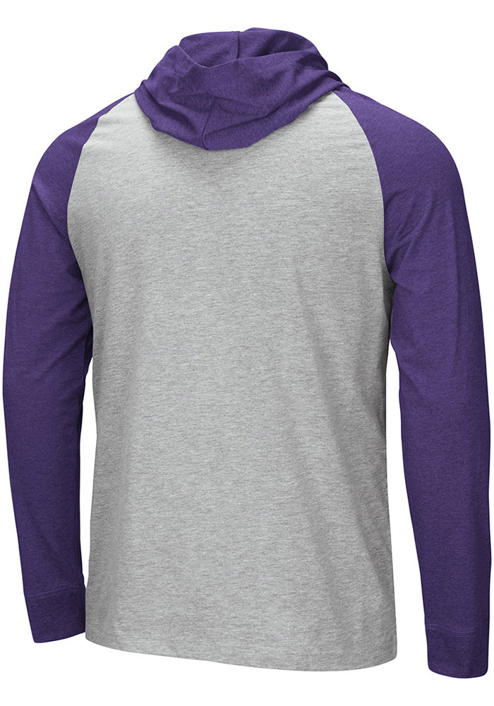 Colosseum TCU Horned Frogs Mens Grey Slopestyle Long Sleeve Hoodie - Image 2