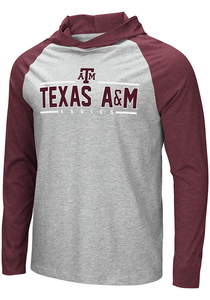 Texas A&M Aggies Colosseum Slopestyle Hooded Sweatshirt - Grey