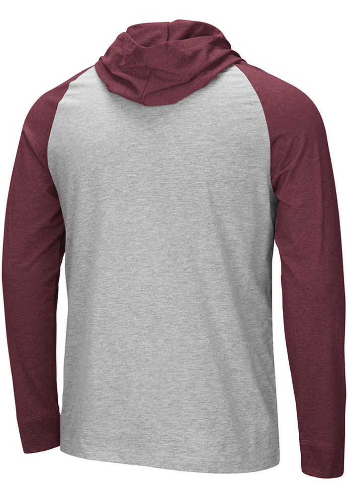 Colosseum Texas A&M Aggies Mens Grey Slopestyle Long Sleeve Hoodie - Image 2