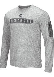 Michigan State Spartans Colosseum Banked T-Shirt - Grey