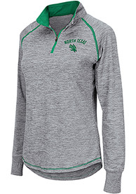 North Texas Mean Green Womens Colosseum Athena 1/4 Zip - Grey
