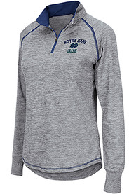 Notre Dame Fighting Irish Womens Colosseum Athena 1/4 Zip - Grey