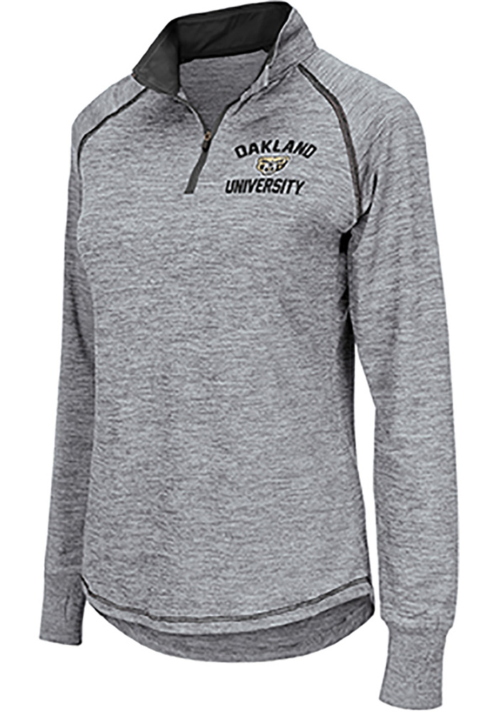 Colosseum Griz Womens Grey Athena 1/4 Zip Pullover - Image 1